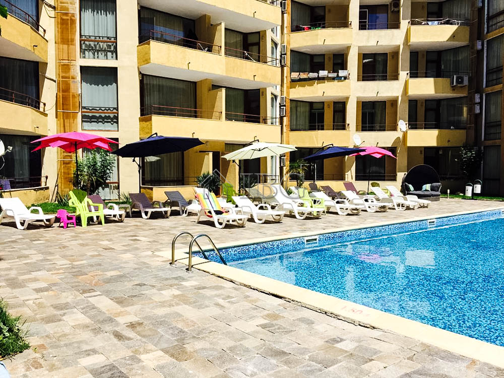 Pool View Furnished 2-bedrooms in Complex Sands Holiday, Sunny Beach