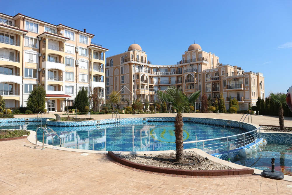 Furnished 1-bedroom apartment in Elitonia Gardens, Ravda, 350 m to the beach