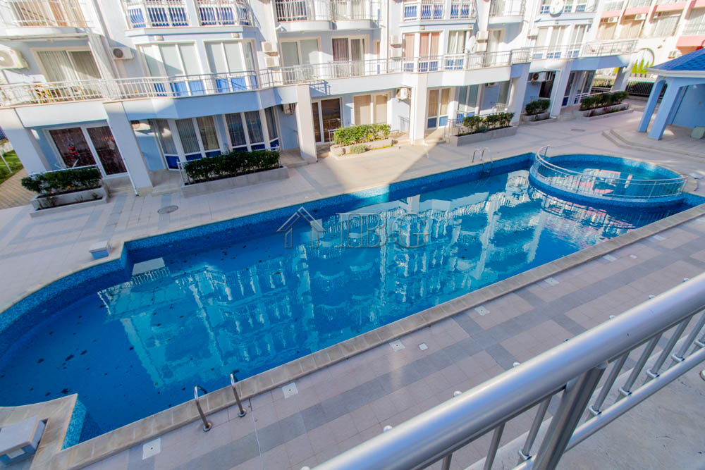 1-bedroom apartment with big balcony and POOL view in Sunny Dream, Sunny Beach