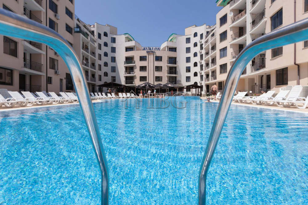 POOL View 1-bedroom apartment in Avalon, Sunny Beach