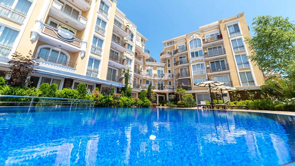 1-Bedroom apartment with big balcony in Messembria Resort, Sunny Beach