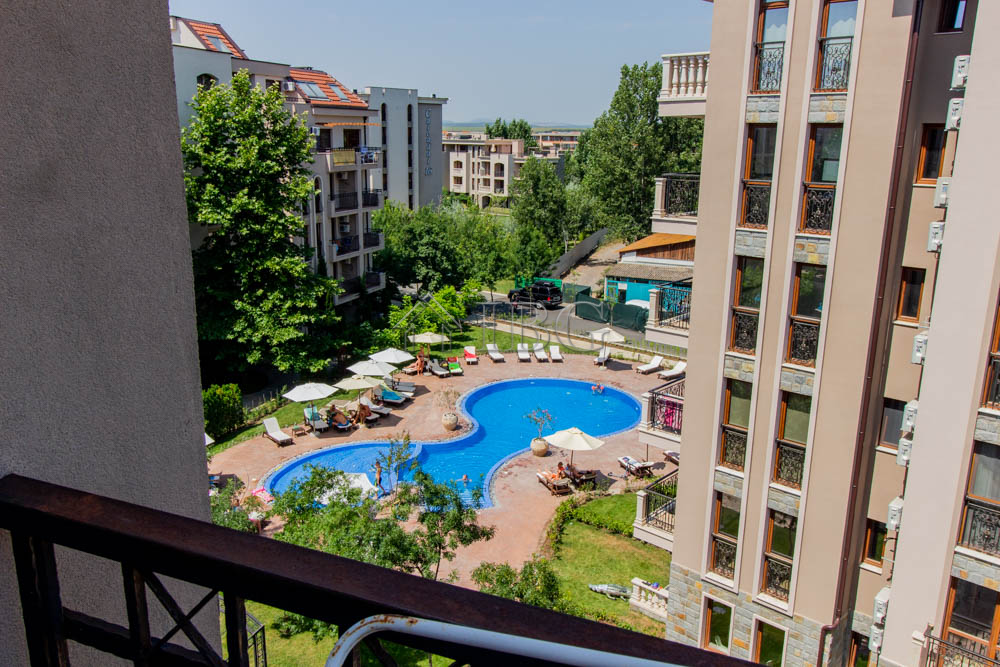 1-bedroom apartment with pool view in Cascadas Family Resort, Sunny Beach